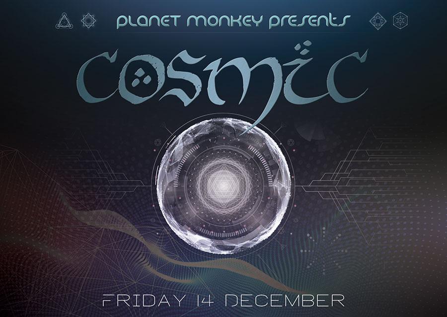 Cosmic flyer front - December 2018
